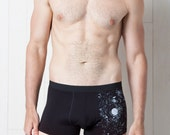 Glow-in-the-Dark Solar System Men's Trunks Underwear