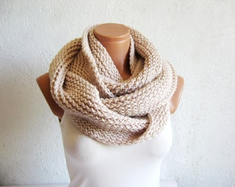 İnfinity Scarves Winter scarves Knitted Accessory infinity Scarf Block Infinity Scarf. Loop Scarf, Circle Scarf, Neck Warmer.