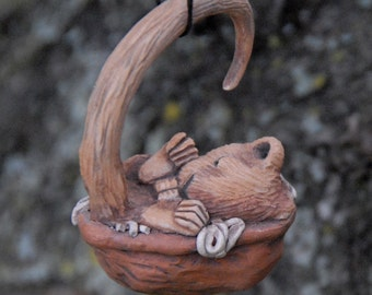 sleeping mouse ornament