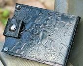 Slim Jim Leather Money Clip Wallet -- --Wild West-- -- Verdigris Green