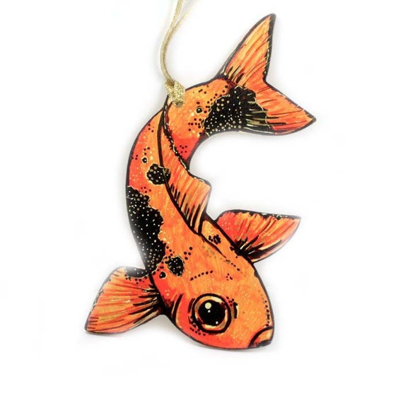 Koi fish christmas ornament handmade goldfish tree ornament for Koi fish ornament