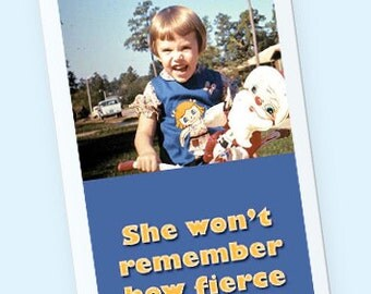 20 No sleeves She won't remember how fierce she was Vintage Photo Book mark