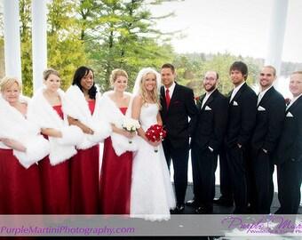 WEDDING hand muff faux fur weddings MUFFLERS