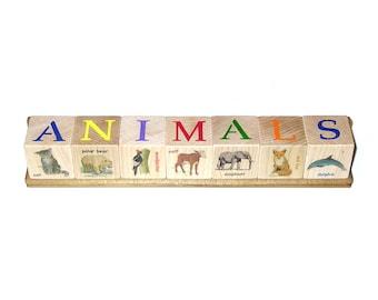 Illustrated Block Set - ANIMALS