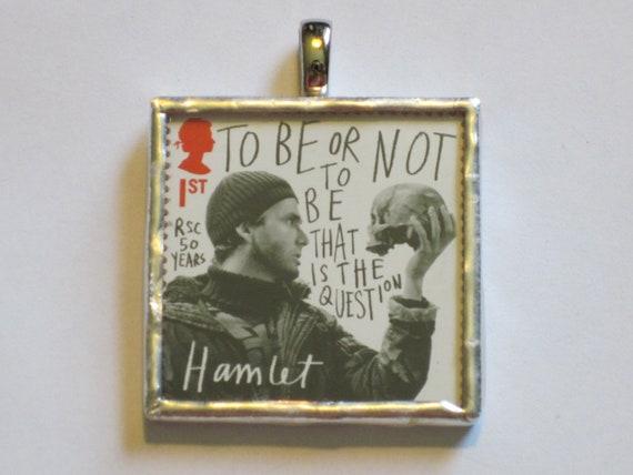Postage Stamp Pendant - Shakespeare - Hamlet