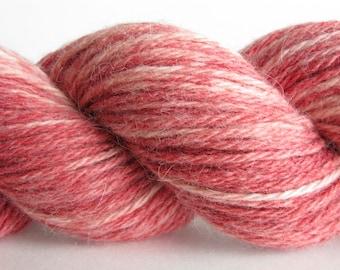 Strawberry - Bunny Sock Yarn - Angora Rabbit Superwash Merino Wool -  2 oz. Fingering or Sock Weight