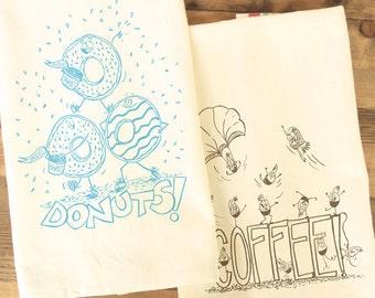 Coffee and Donuts Tea Towel set