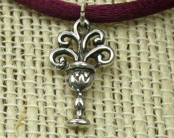 Ace of cups, solid Sterling Silver,