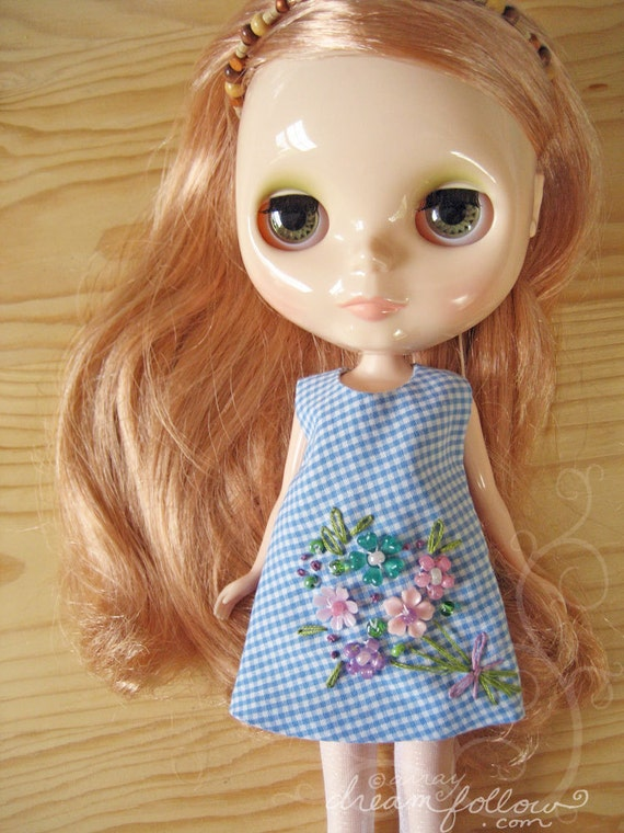 Country Bouquet beaded Blythe dress