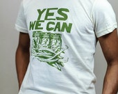 SALE!  Men's Small Yes We Can Organic Men's T-Shirt