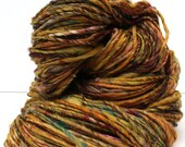 Dandelion tea -- handspun single ply yarn (175 yards - 4.9 oz.)