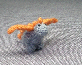 Tiny Freya the Dragon - Knitted and Crocheted
