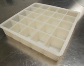 RESERVED FOR MARLENE Large silicone mold for cube shaped soaps 25 cavity