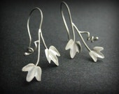 Ivy Leaf Earrings Hand Fabricated in Sterling Silver