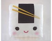 "Decorative Pillow, Onigiri Pillow, Japanese Food, Cushion, Kawaii, Home Decor, Room Decor, Dorm Decor, Childrens Toys, 7 x 7"""