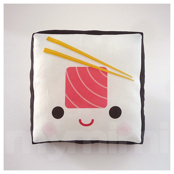 Decorative Pillow Sushi Pillow Tuna Roll Japanese Food