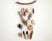 Stoneware Ceramic Leaf Chimes Mobile, Made to Order - StudioByTheForest