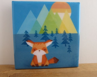 Fox Sentinel Tile Coaster