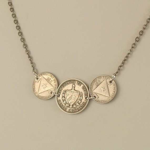Cuba Coin Necklace 1915 and 1958