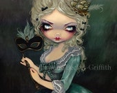 Marie Masquerade french antoinette fairy art print by Jasmine Becket-Griffith 8x10