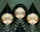 Three Witchy Sisters halloween fairy art print by Jasmine Becket-Griffith 8x10