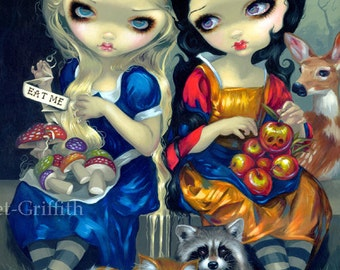 Alice and Snow White fairytale wonderland fairy art print by Jasmine Becket-Griffith 8x10