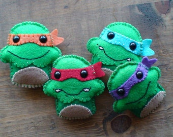 Ninja Turtles Cupcake Felt Plush Set