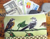 Bird Gossipers - Fabric Zipper Pouch