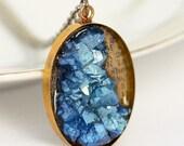 Electric Blue Faux Quartz Necklace