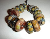 Connie Beads... Ancient Discs...Soda Finish... 14 beads