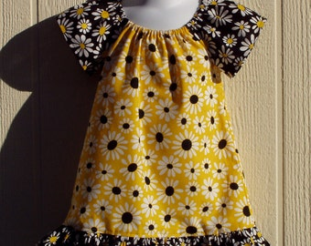 Sunny Daisy Peasant Dress Size 12 Months