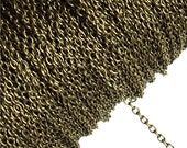 CHBAB-CA20 - Chain, Cable 2mm, Antique Brass - 1 Meter