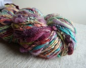 Handspun yarn, fruity colors, 192 yards