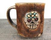 Skully Coffee Mug - Caramel - Butternut Gold - Day of the Dead - Skull