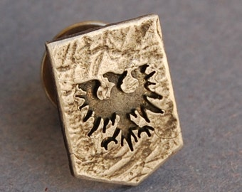 Sterling silver EVE Online Gallente federation tie pin/lapel pin