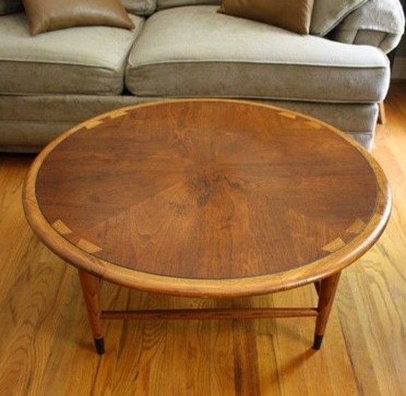 Etsy Round Coffee Tables: REDUCED Lane Acclaim Mid Century Danish Style Round By