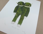 A4 Print Two Headed Monster