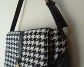 Vintage Rockabilly Houndstooth Hand Bag Clutch Purse - iamsonotcool
