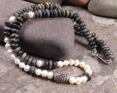 Picasso Jasper and Freshwater Pearl Necklace