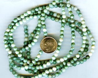 4mm Qinghai Green Jasper Gemstone Round Beads 1/2 Strand 48 beads