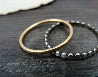 deco stack ... mixed metal stacking rings