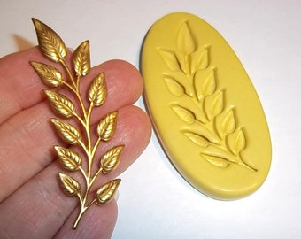 Leaf Vine Flexible Mold  For Resin Polymer Clay Food Safe Fondant Chocolate Silicone  F239