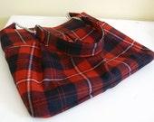 Cunningham Tartan Purse red and black plaid Pendleton Wool