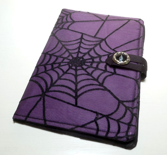 Purple Spider Webs - Kindle Touch, Kobo Cover, Gothic, Halloween