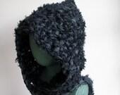 Fuzzy Black Hood