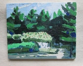 Homestead Rock, Small Canadian Landscape Painting on Panel, Original, FREE with other purchase!