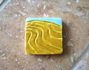 farm field clay tile or pendant