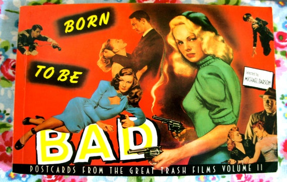 Vintage 1989 Complete 31 Posters Postcard Book Born To Be Bad Postcards From the Great Trash Films Volume II