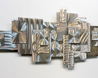Geometric Metal Wall Art extra large abstract metal wall art silver decorative wall