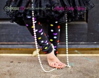black hearts dots baby legwarmers, baby legs, baby leg warmers, baby girl outfit, baby boy outfit, infant leggings, halloween costume